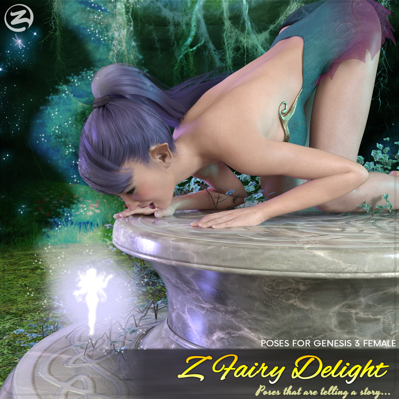 Z Fairy Delight - Poses for the Genesis 3 Females by Zeddicuss