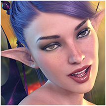 Z Fairy Mood - Morph Dial and One-Click Expressions for the Genesis 3 Females image 1