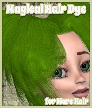 Magical Hair Dye for Mars Hair 3D Figure Assets MargyThunderstorm