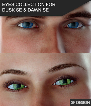 Iray Eyes Collection for Dusk SE and Dawn SE 3D Figure Assets SF-Design