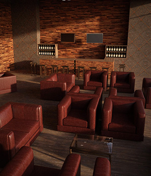 Wine Club Interior 3D Models RPublishing