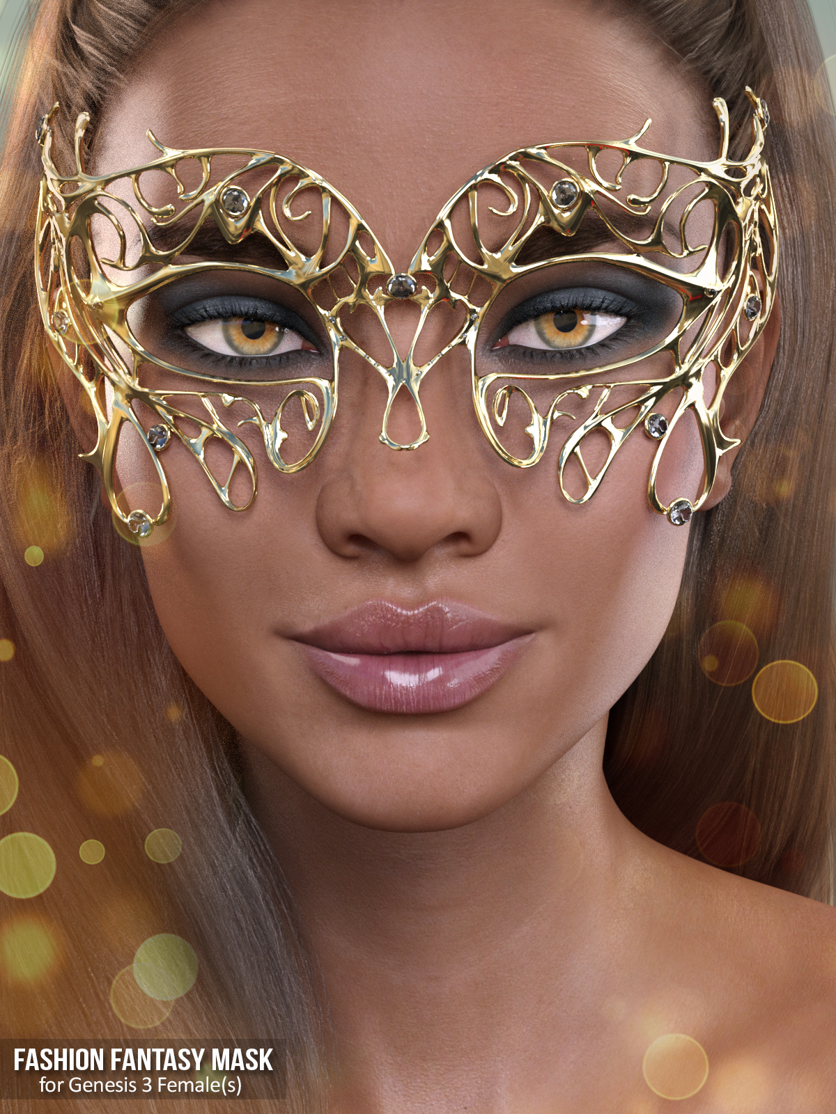 X-Fashion Fantasy Mask for Genesis 3 Females