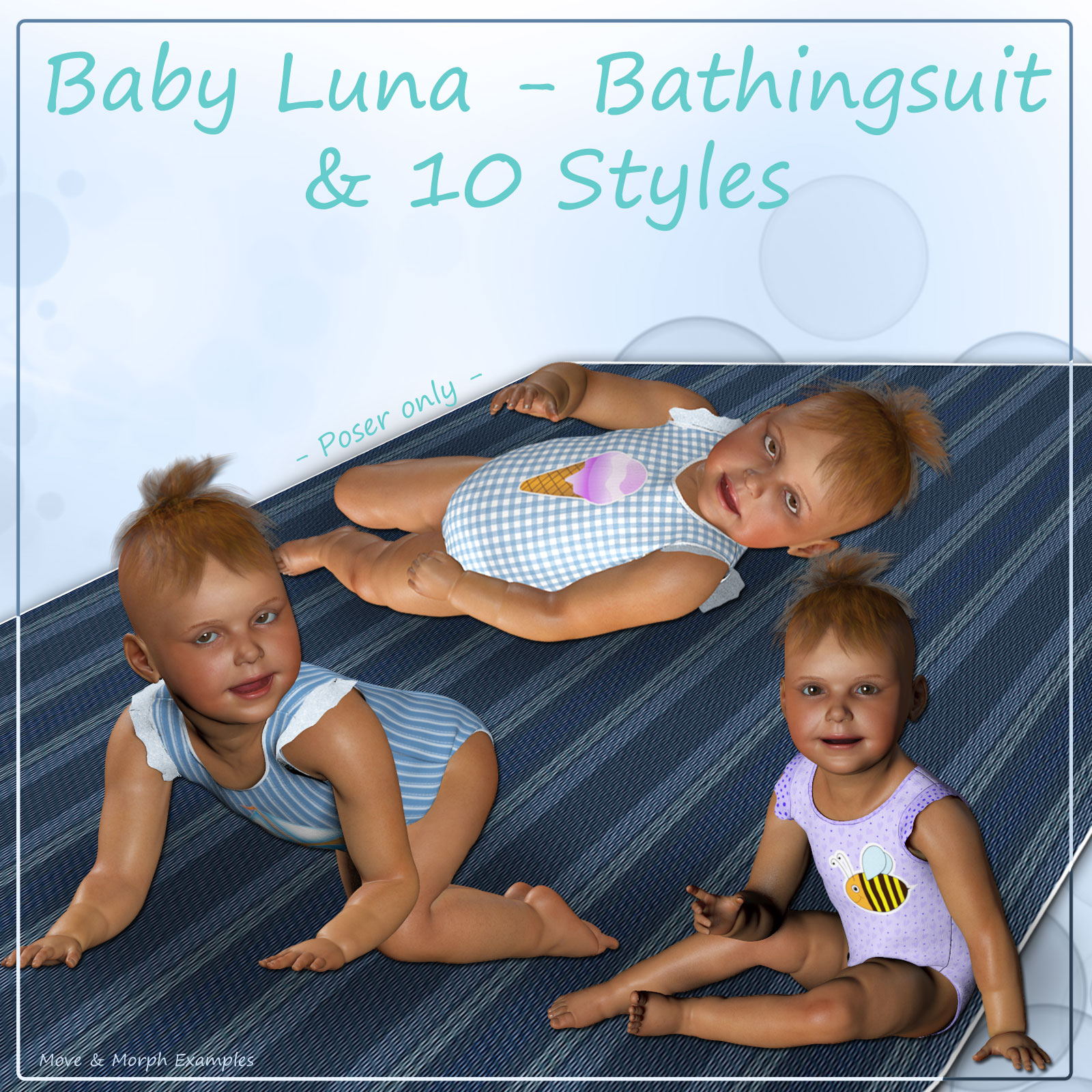 Baby Luna Bathingsuit and 10 Styles