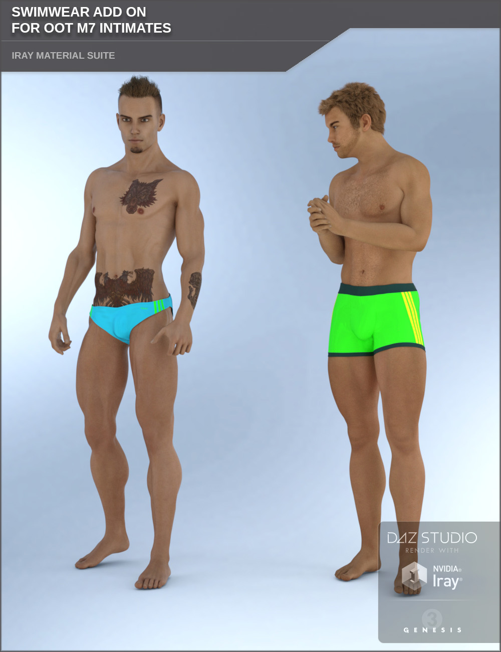 Swimwear Add On for OOT M7 Intimates for Genesis 3 Males