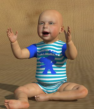 Onesie for Baby Luna- 3D Figure Assets willyb53