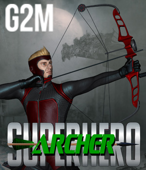SuperHero Archer for G2M Volume 2 3D Figure Assets GriffinFX