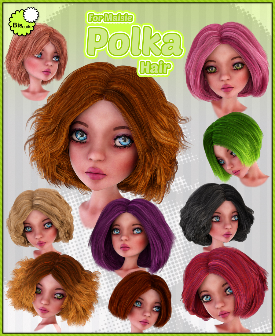 Biscuits Polka Hair for Maisie by Biscuits