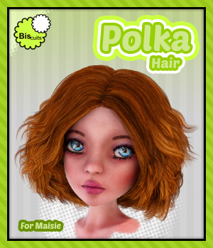 Biscuits Polka Hair for Maisie 3D Figure Assets Biscuits