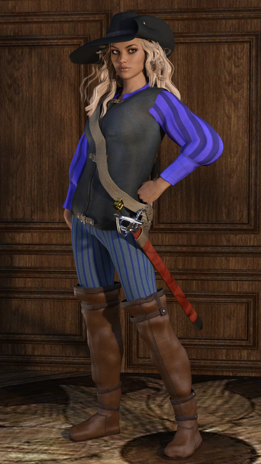 Rogue Outfit for Genesis 3 Female by Deacon215