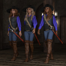 Rogue Outfit for Genesis 3 Female image 1