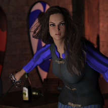 Rogue Outfit for Genesis 3 Female image 4