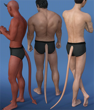 EasyPose Tail for Genesis 3 Male(s) 3D Figure Assets Oskarsson