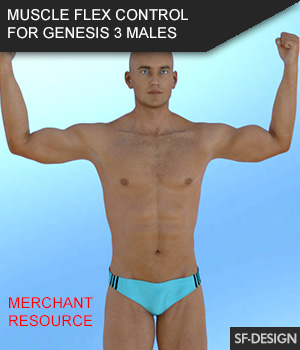 Muscle Flex Control for Genesis 3 Males and Merchant Resource 3D Figure Assets Merchant Resources SF-Design