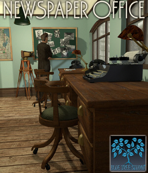 Newspaper Office 3D Models BlueTreeStudio