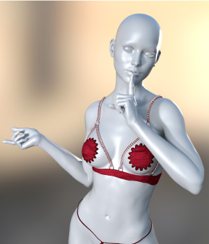 Sexy Bra for G3 3D Figure Assets carlosmbernal