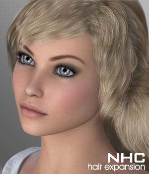 NHC Expansion : Dara Hair 3D Figure Assets P3D-Art