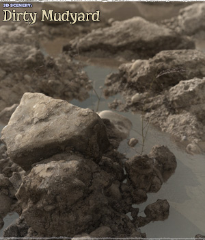 3D Scenery: Dirty Mudyard - Extended License 3D Models Extended Licenses ShaaraMuse3D