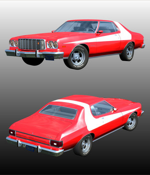 FORD GRAN TORINO 1974 - f or POSER   3D Models Nationale7