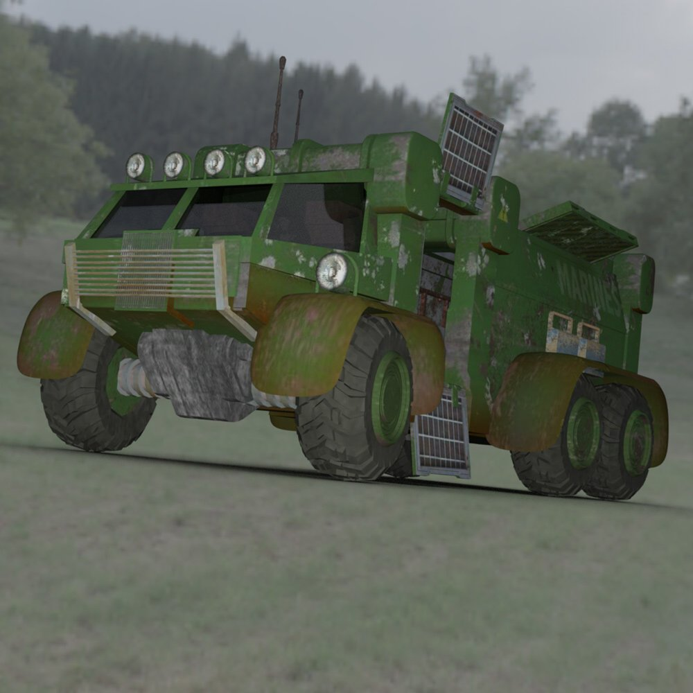 Sci-Fi Truck - Heavy Duty (for DAZ Studio) by VanishingPoint