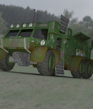 Sci-Fi Truck - Heavy Duty (for DAZ Studio) 3D Models VanishingPoint
