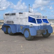 Sci-Fi Truck - Heavy Duty (for DAZ Studio) image 2