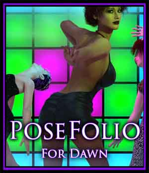 CPS-PoseFolio-Dawn 3D Figure Assets CreekyPointStudios