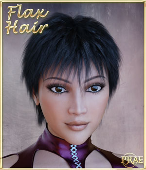 Prae-Flax Hair For Dusk and Dawn 3D Figure Assets prae