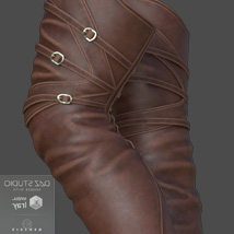 Mary High Boots for Genesis 3 Females image 3
