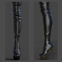 Mary High Boots for Genesis 3 Females image 5