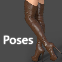 Mary High Boots for Genesis 3 Females image 7