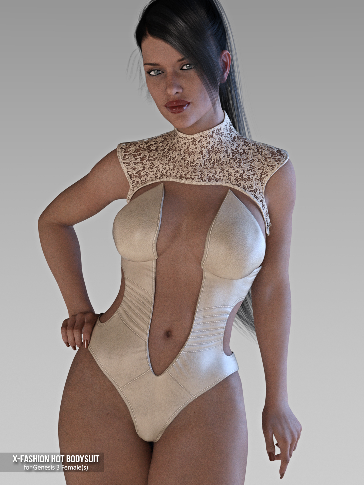 X-Fashion Hot Bodysuit for Genesis 3 Females
