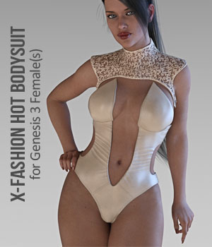 X-Fashion Hot Bodysuit for Genesis 3 Females 3D Figure Assets xtrart-3d