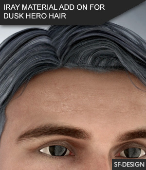 Iray Material Add On for Dusk Hero Hair 3D Figure Assets SF-Design