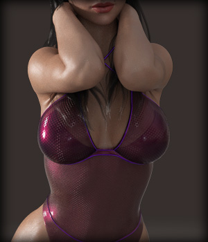 Future Swimwear 4 for G3F 3D Figure Assets EdArt3D