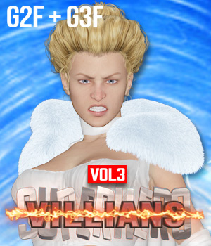 SuperHero Villians for G2F &G3F Volume 3 3D Figure Assets GriffinFX