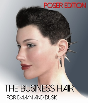 The Business Hair for Dawn and Dusk - Poser Edition 3D Figure Assets RedzStudio