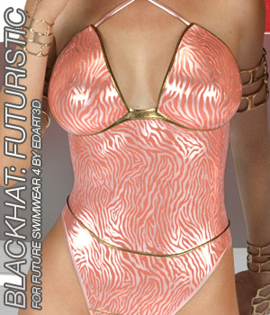 BLACKHAT:FUTURISTIC - Future Swimwear 4 for G3F