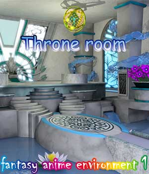 fantasy-anime-Environment 1 _ Throne room 3D Models muwawya