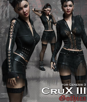 CruX III - Gothica 3D Figure Assets Rhiannon
