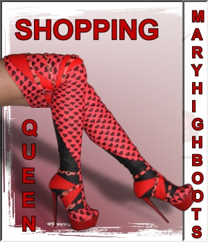 Shopping Queen:Mary High Boots 3D Figure Assets LUNA3D