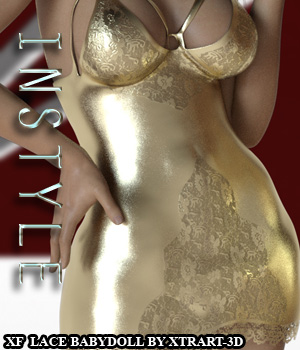 X-Fashion Lace Babydoll for Genesis 3 Females 3D Figure Assets -Valkyrie-