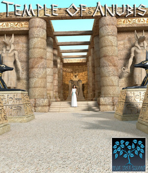 Temple of Anubis 3D Models BlueTreeStudio