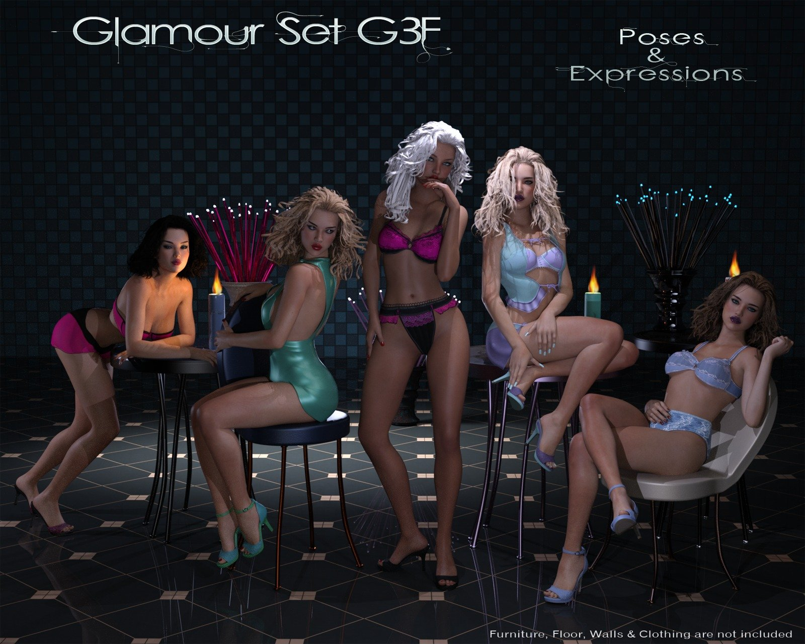 Glamour Set G3F Poses & Expressions