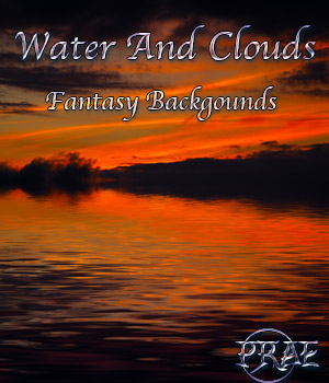 Prae-Water and Clouds Fantasy Backgrounds 2D Graphics prae