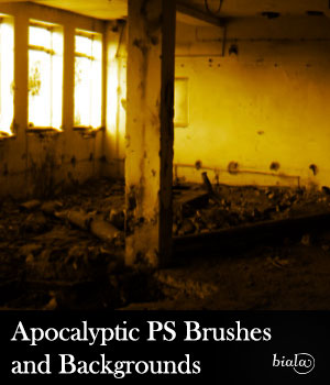 Apocalyptic PS Brushes and Backgrounds 2D Graphics biala