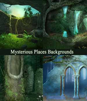 Mysterious Places Backgrouds 2D Graphics EllerslieArt