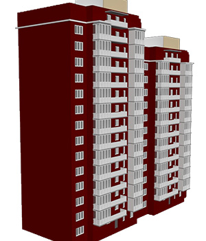 M30 High Rise Apartment - Extended License 3D Game Models : OBJ : FBX 3D Models Extended Licenses RPublishing