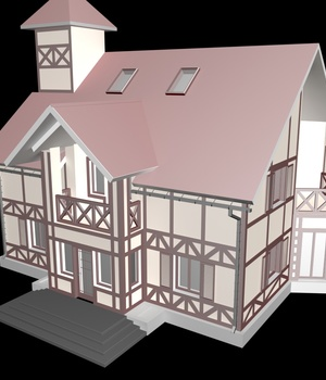 M32 House -Extended License 3D Game Models : OBJ : FBX 3D Models Extended Licenses RPublishing