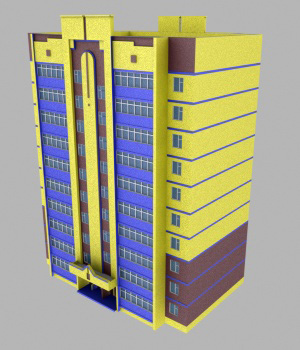 M36 High Rise Apartment 2 - Extended License 3D Game Models : OBJ : FBX 3D Models Extended Licenses RPublishing