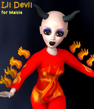 Lil Devil for Maisie  3D Figure Assets Karth